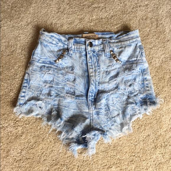 78372a6dbb Aphrodite Pants - Aphrodite High Waisted Distressed Cut Off Shorts